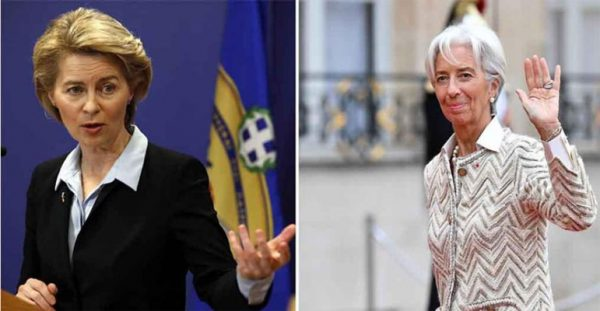 Due donne alla guida dell'Europa: Lagarde alla Bce e von der Leyen alla Commissione