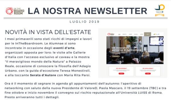Newsletter – luglio 2019