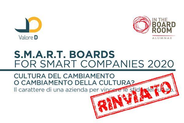 Evento rinviato: S.M.A.R.T. BOARDS for Smart Companies 2020